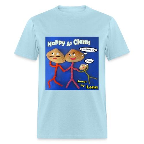 Happy as a Clam Adult T-Shirt Lt Blue - Men's T-Shirt