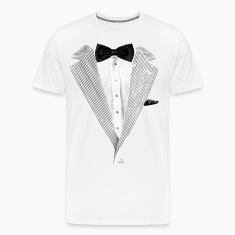 Realistic Tuxedo bow tie and sear sucker T-Shirts