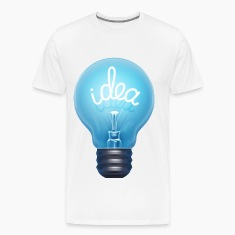 blue light bulb idea