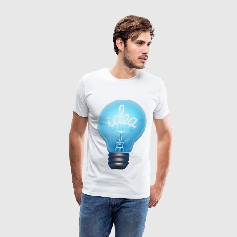 blue light bulb idea - Men's Premium T-Shirt
