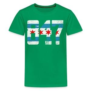 847 Chicago Flag - Kids' Premium T-Shirt