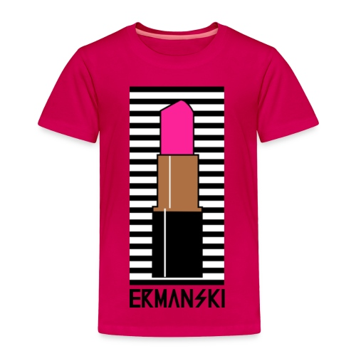 Hot Pink Lipstick - Toddler - Toddler Premium T-Shirt