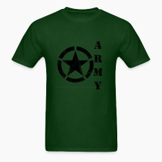 Men's Army Star T Shirt