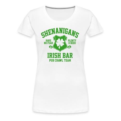 shenanigans irish pub crawl team - Women's Premium T-Shirt