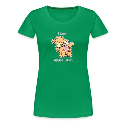 Alpaca Lunch Ladies Fitted Tee - Women's Premium T-Shirt