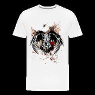 T-Shirts ~ Men's Premium T-Shirt ~ Grunge Horned Owl