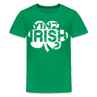 Kids' Shirts ~ Kids' Premium T-Shirt ~ Yinz Irish? Kids T-shirt - White Cutout