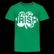 Kids' Shirts ~ Kids' Premium T-Shirt ~ Yinz Irish? Kids T-shirt - White Cutout