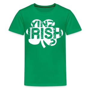 Yinz Irish? Kids T-shirt - White Cutout - Kids' Premium T-Shirt