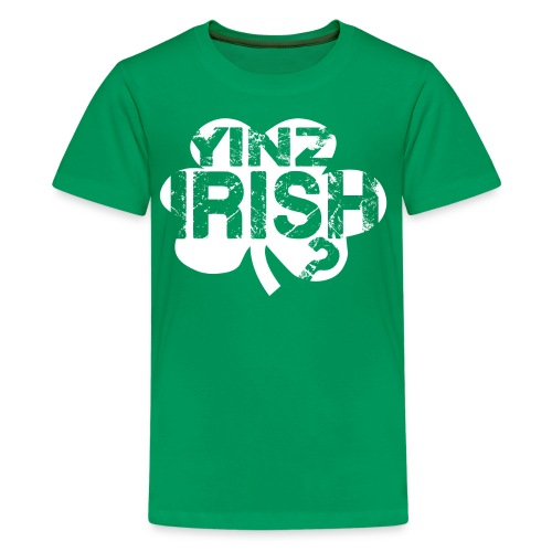 Yinz Irish? Kids T-shirt - White Cutout - Kids' Premium T-Shirt