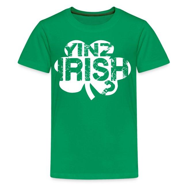 Yinz Irish? Kids T-shirt - White Cutout