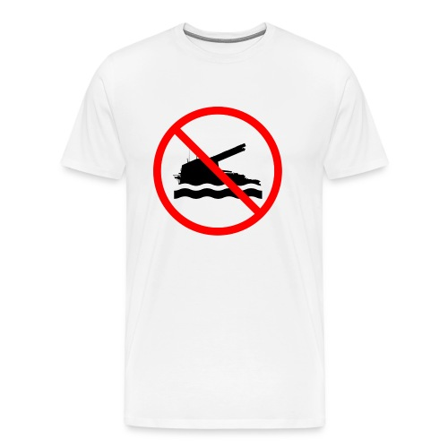 No Swimming - Men's Premium T-Shirt