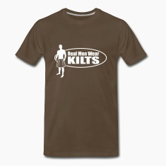 Real Men Wear Kilts (Oval) T-Shirts