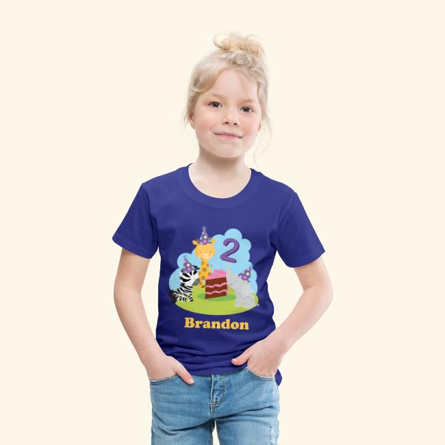 2nd Birthday Personalized T Shirt Zoo