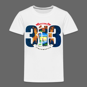313 Michigan Flag - Toddler Premium T-Shirt