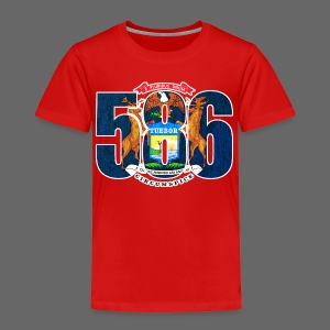 586 Michigan Flag - Toddler Premium T-Shirt