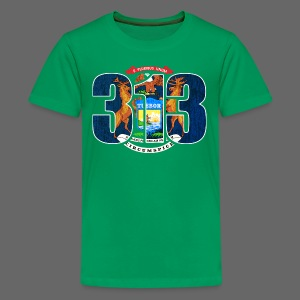 313 Michigan Flag - Kids' Premium T-Shirt
