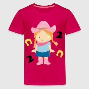 2nd Birthday Cowgirl Kids' Shirts - Kids' Premium T-Shirt