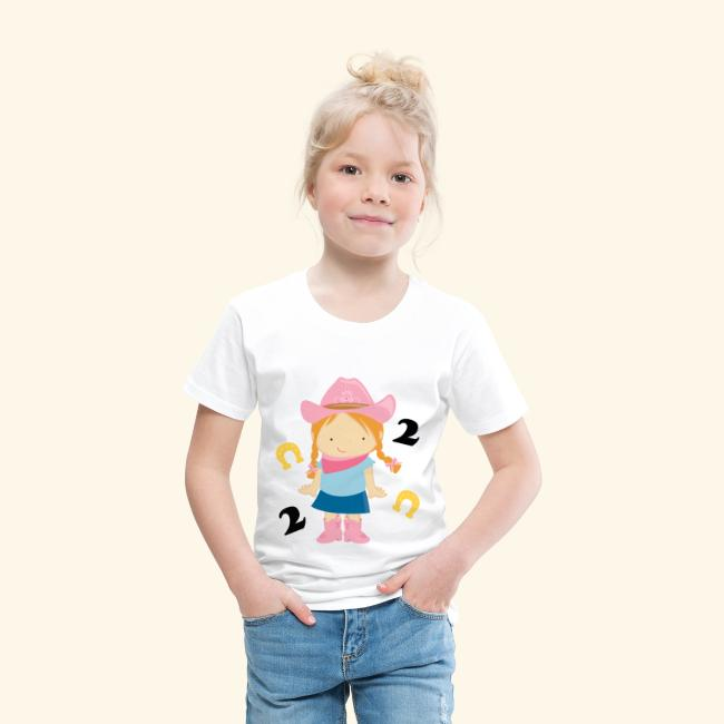 2nd Birthday Girls T Shirt Cowgirl