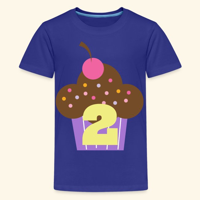 2nd Birthday T Shirt Cupcake