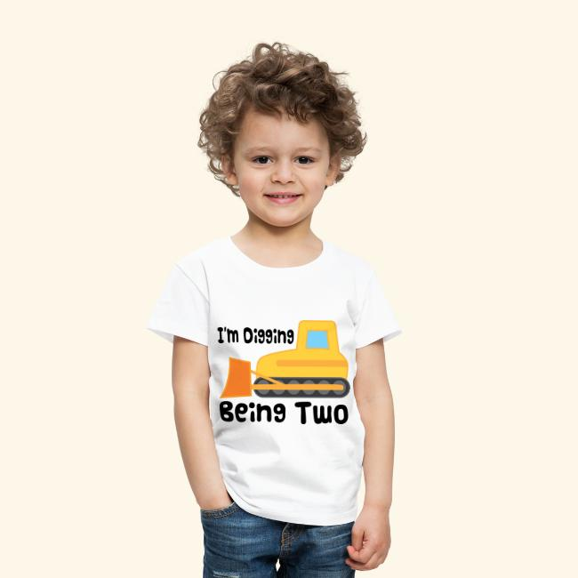 2nd Birthday T Shirt Bulldozer