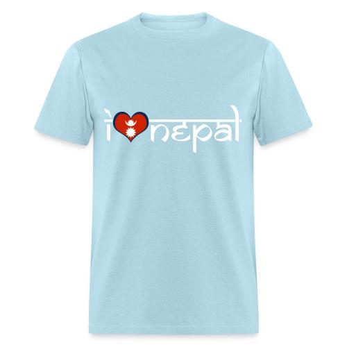 I LOVE NEPAL MEN BLACK - Men's T-Shirt
