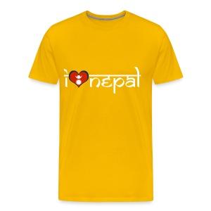 I LOVE NEPAL MEN BLACK - Men's Premium T-Shirt