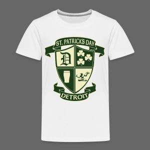 St. Patricks Day Detroit Irish Crest  - Toddler Premium T-Shirt