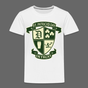 St. Patricks Day Detroit Irish Crest  - Toddler Premium T-Shirt