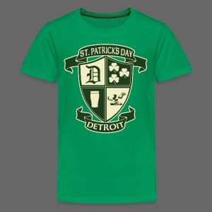 St. Patricks Day Detroit Irish Crest  - Kids' Premium T-Shirt