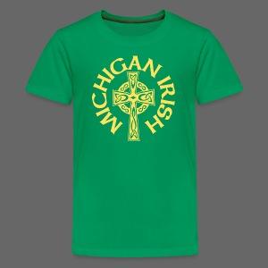 Michigan Irish Celtic Cross - Kids' Premium T-Shirt