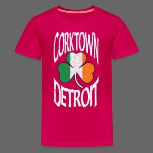 Corktown Detroit Shamrock Irish Flag - Kids' Premium T-Shirt