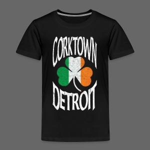 Corktown Detroit Shamrock Irish Flag - Toddler Premium T-Shirt