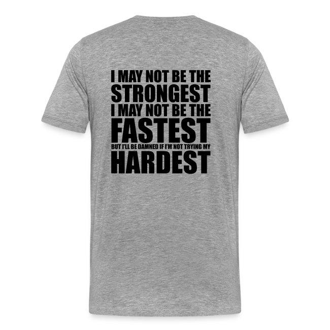 63244e14 Crossfit Shirts. | Strongest Fastest Hardest - Mens Premium T-Shirt
