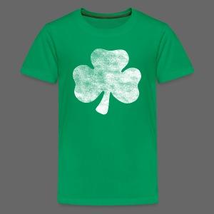 Distressed Vintage Irish Shamrock - Kids' Premium T-Shirt