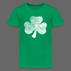 Distressed Vintage Irish Shamrock - Kids' Premium T-Shirt