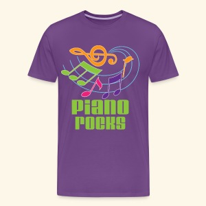 Piano Mens Music T-shirt (Piano Rocks) - Men's Premium T-Shirt