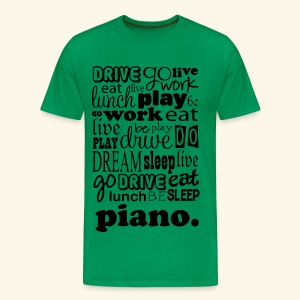 Piano Music Mens T-shirt (word cloud) - Men's Premium T-Shirt