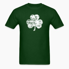 Distressed White Shamrock T-shirt