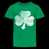 Kids' Shirts ~ Kids' Premium T-Shirt ~ Distressed Irish Shamrock