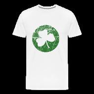 T-Shirts ~ Men's Premium T-Shirt ~ Grunge Green Shamrock