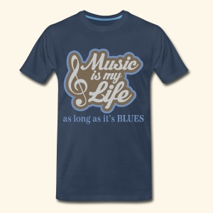 Music Rhythm and Blues Mens T-shirt - Men's Premium T-Shirt
