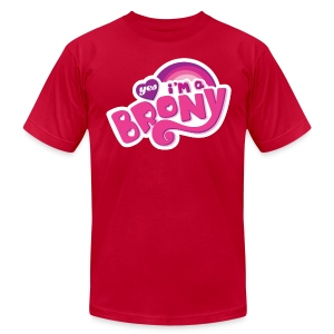 Yes I'm a Brony - Men's Fine Jersey T-Shirt