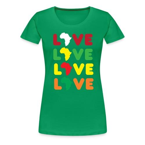 Love Africa Ladies Tee - Women's Premium T-Shirt