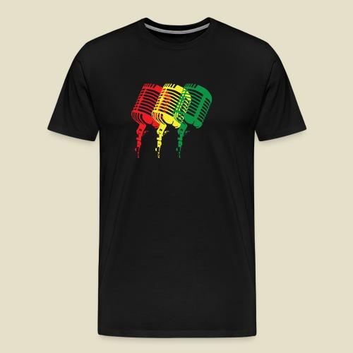 Reggae microphones - Men's Premium T-Shirt