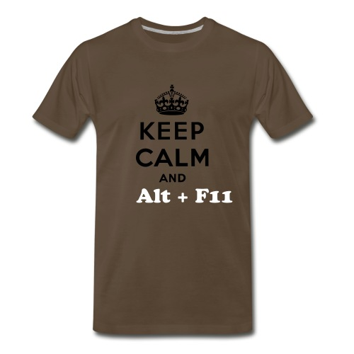 Keep Calm and Alt F11 - Men's Premium T-Shirt