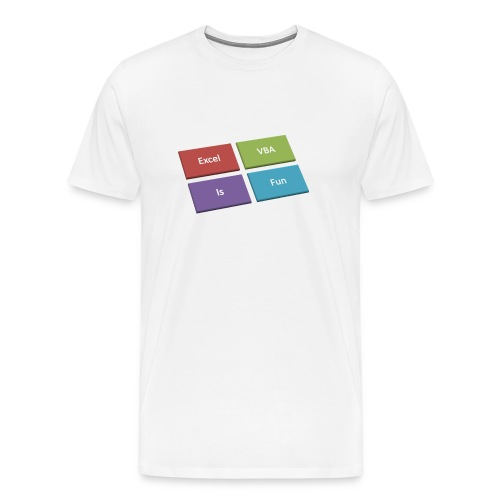 Excel VBA Is Fun!! - Men's Premium T-Shirt
