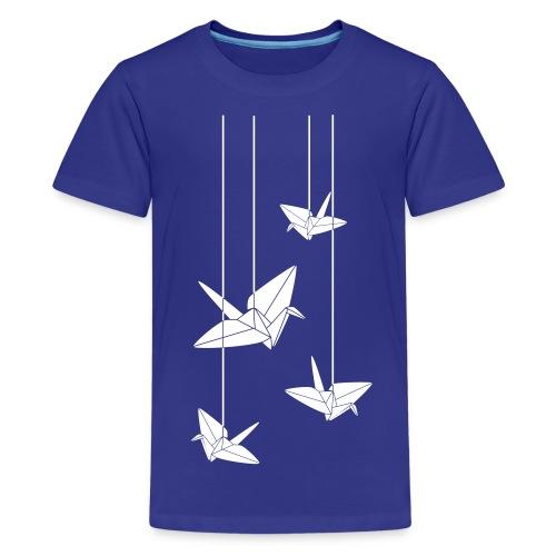 Hanging Origami Cranes - Kids' Premium T-Shirt