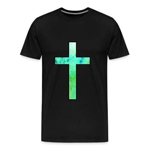 Galaxy Cross Green - Men's Premium T-Shirt