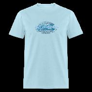 T-Shirts ~ Men's T-Shirt ~ Blue Lobster Radio on Light Blue